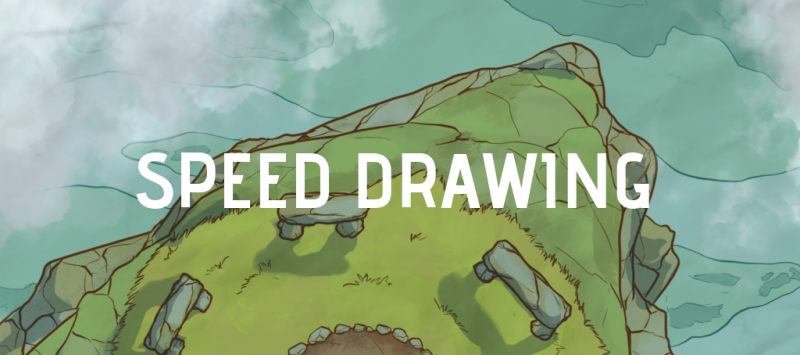 Speed Drawing Cromlech On a Hanging Rock Battle Map