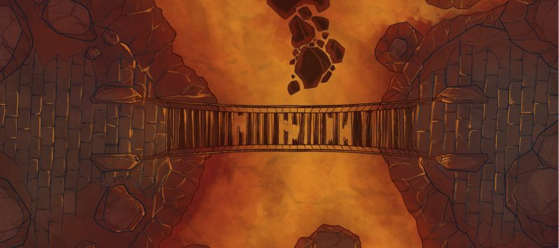 Lava Bridge Battle Map