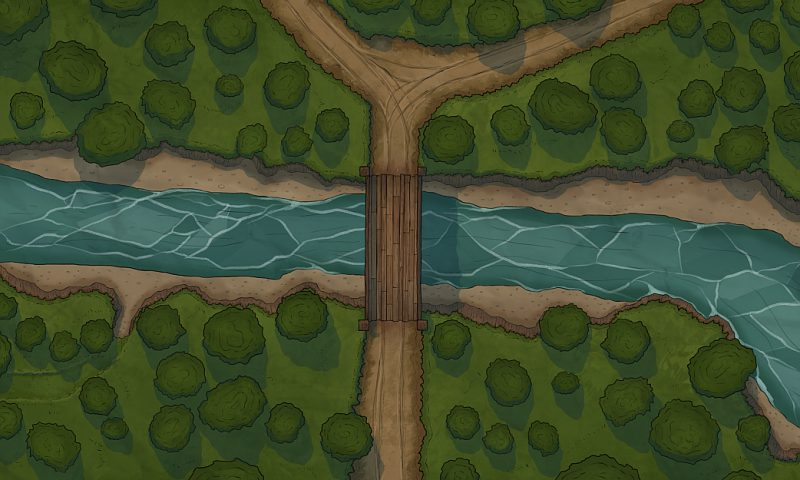 The Bridge In The Forest Battle Map
