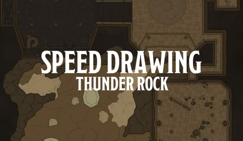 Speed Drawing – Thunder Rock (RPG Battlemap)