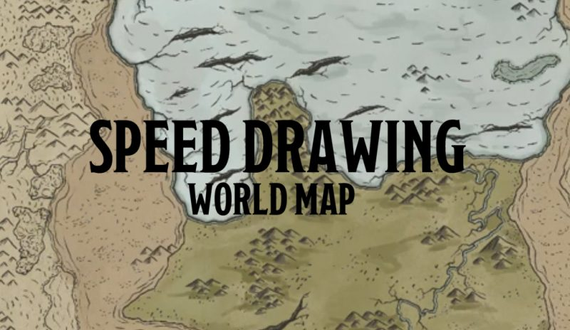 Speed Drawing – World Map (RPG Battlemap)