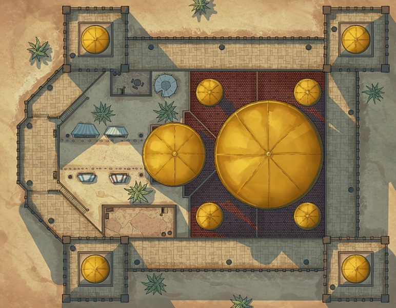 Arabian Castle Battle Map