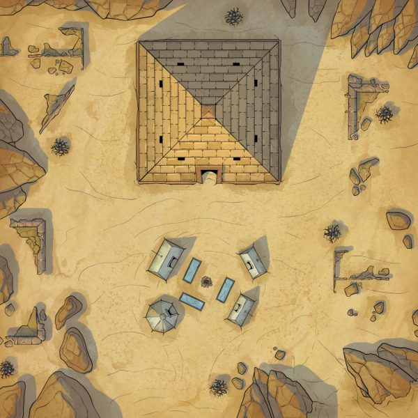The Cursed Pyramid Battle Map