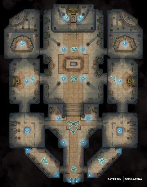 Church Catacombs Battle Map
