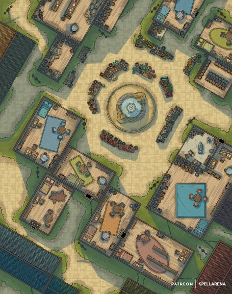 Town Market Battle Map