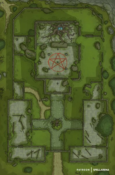 Ruined Abbey Battle Map