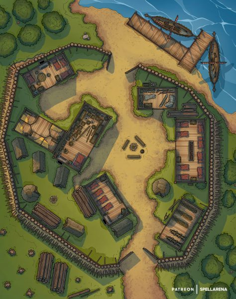 Viking War Camp Battle Map [FREE]